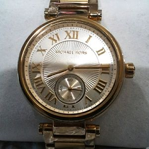 Michael Kors Ladies Watch w/ Baguette Bezel
